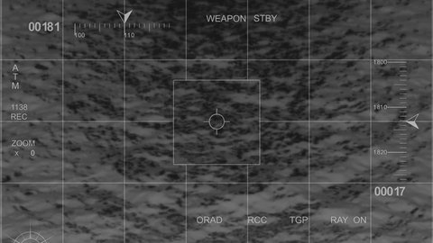 infrared Helicopter War Footage fly over water