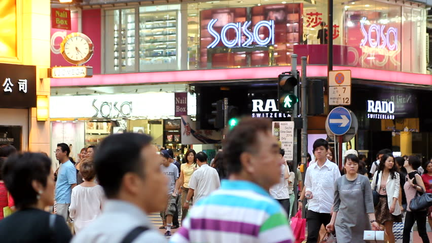 HONG KONG, HK – SEPTEMBER 22: People walking and crossing the street September 22, 2011 in Hong Kong
