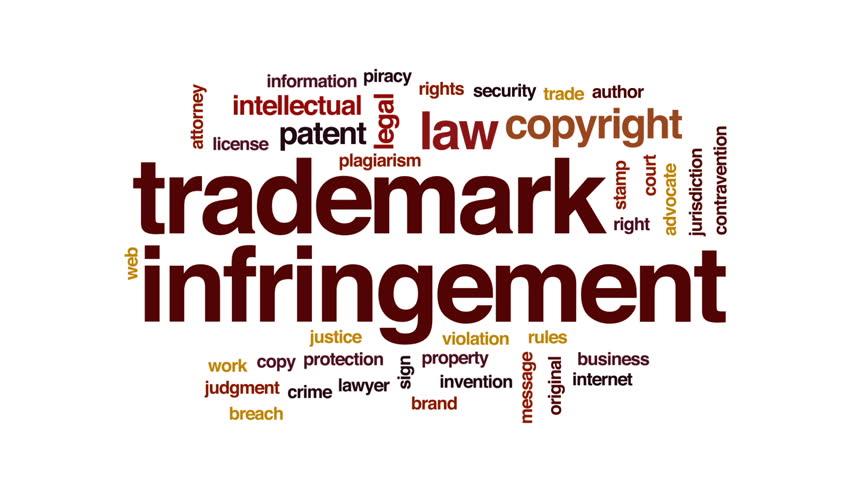 Trademark infringement animated word cloud, text design animation. | Shutterstock HD Video #31824994