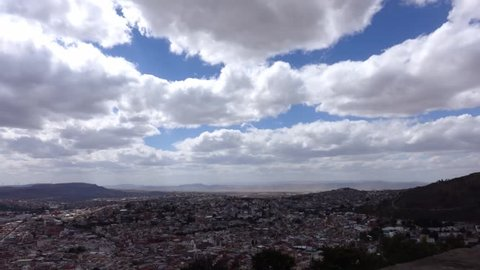Zacatecas Timelapse from the mountain