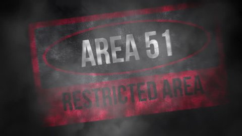 Area 51 Restricted Area, Warning No Trespassing Beyond This Point - Text Animation Background Loop 4K Animation