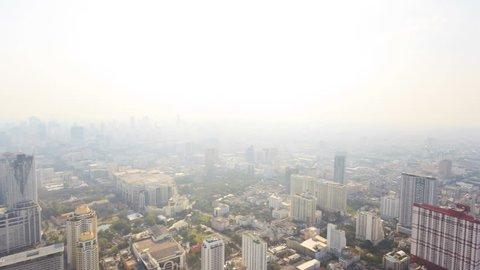 360 degree view of Bangkok, capital city of Thailand