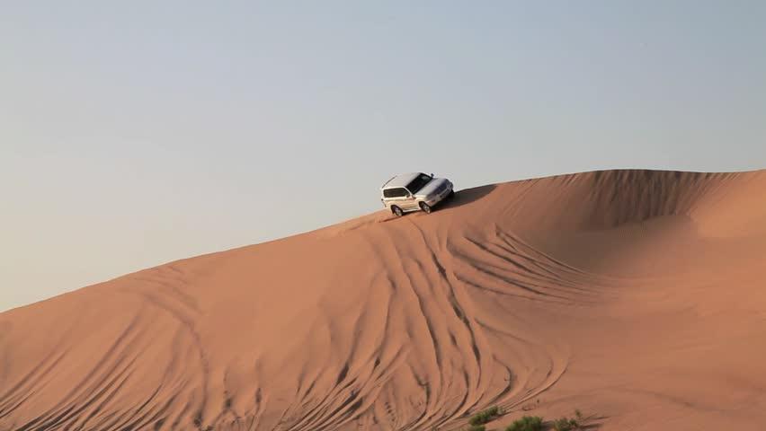 SUV tour through the Arabian desert