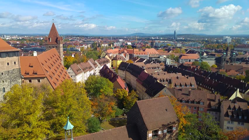 view over nuremberg from the tower of the castle