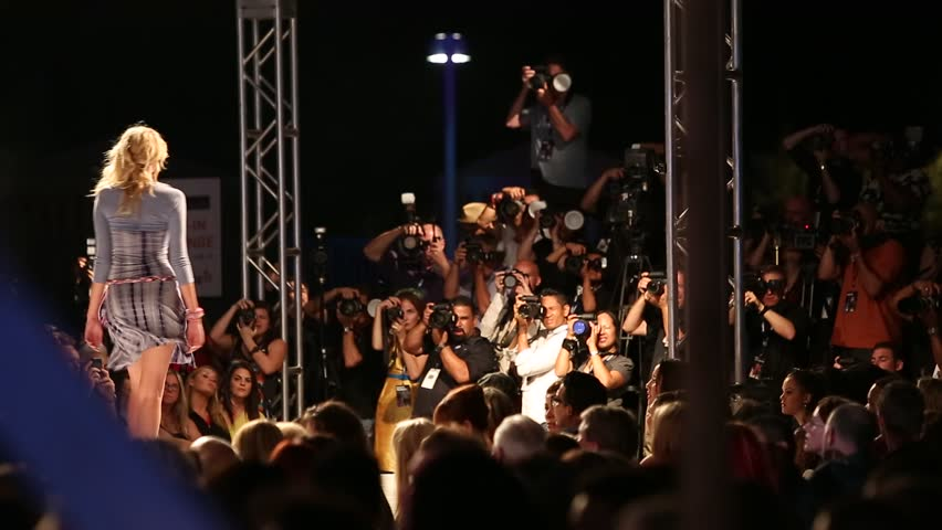 SCOTTSDALE, AZ - OCTOBER 4: Models showcasing designs during a runway fashion show at the Phoenix Fashion Week on October 4, 2012 in Scottsdale, Arizona.