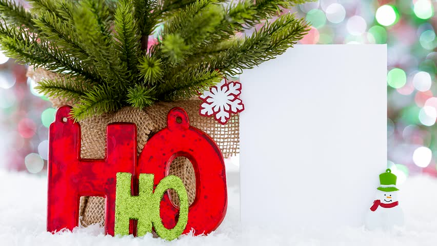 hd0011christmas greeting video card ho ho ho snowman creative funny and cute way to send your holiday wishes - Christmas Wishes Video