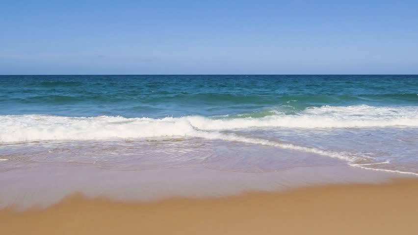 Waves Of The Sea Beautiful Beaches Crystal Clear Water And Sky Are At