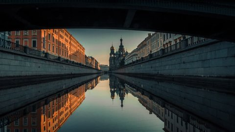 Griboyedov Canal, Saint-Petersburg, Resurrection Cathedral, Church of the Savior on the Spilled Blood, Kazan Cathedral, tourism, boat tour, architecture, interesting place, morning, white nights, sky