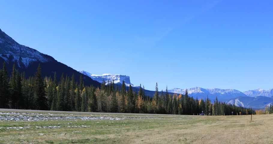 Highway through Jasper National Park, Canada 4K