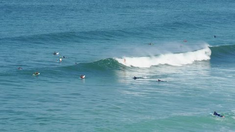 surfers of Biarritz beach