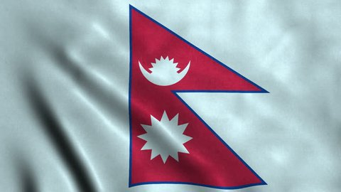 4K Seamless Loopable Flag of Nepal