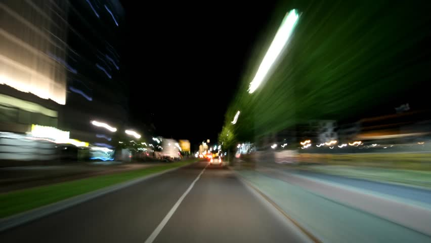 Amazing timelapse traveling through Berlin. Light-speed trip includes Bradenburg Gate. POV.