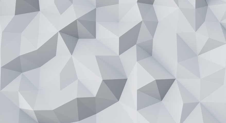 White Low Poly Abstract Background. Seamlessly Loopable ...