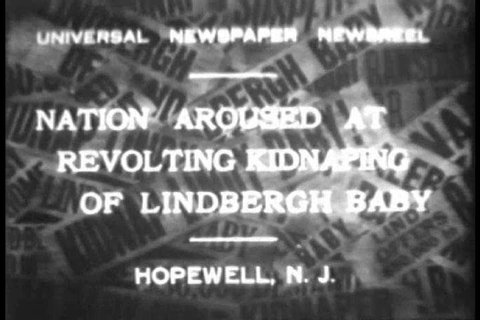 CIRCA 1930s - Police search extensively as the nation is shocked at the kidnapping of baby Charles A. Lindbergh Jr. in Hopewell, New Jersey in March 1932.