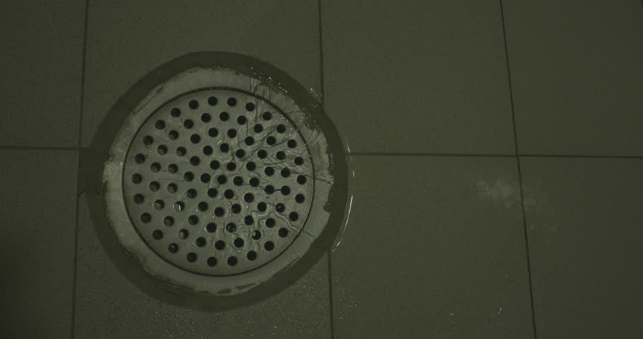 Showering Point Of View Shower Head With Sprinkling Water In The ...