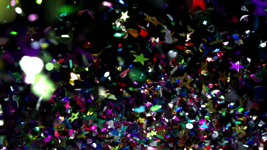 Confetti flying in the air shooting with high speed camera, phantom flex.