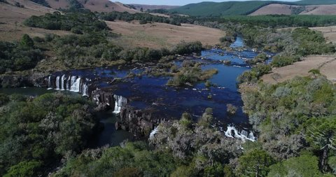 Venancio's Waterfall at Jaquirana, Rio Grande do Sul, Brazil