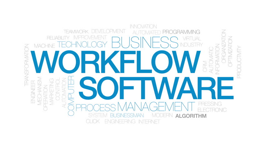 Workflow software animated word cloud, text design animation. Kinetic typography. | Shutterstock HD Video #32322394