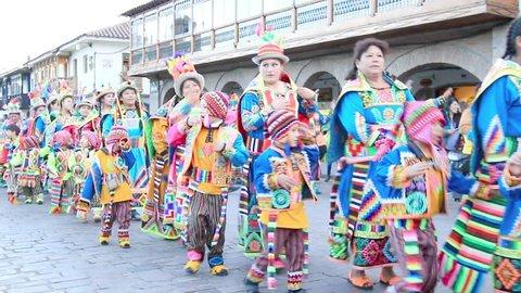 Cusco, Peru - May 13: Stock Footage Video (100% Royalty-free