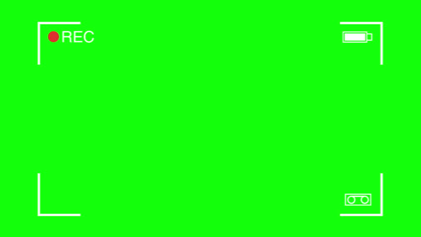 Camera recording on green screen. Rec frame viewfinder animation. HD footage video. | Shutterstock HD Video #32374804