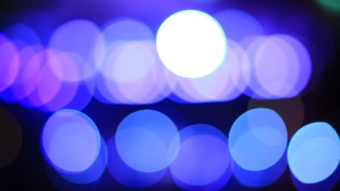 Blue and white bokeh light as abstract background.