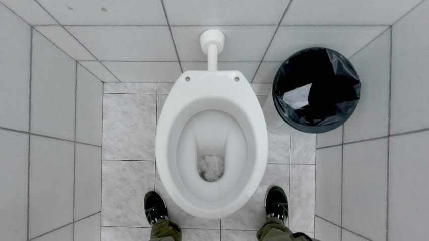 Video of men peeing in urinal