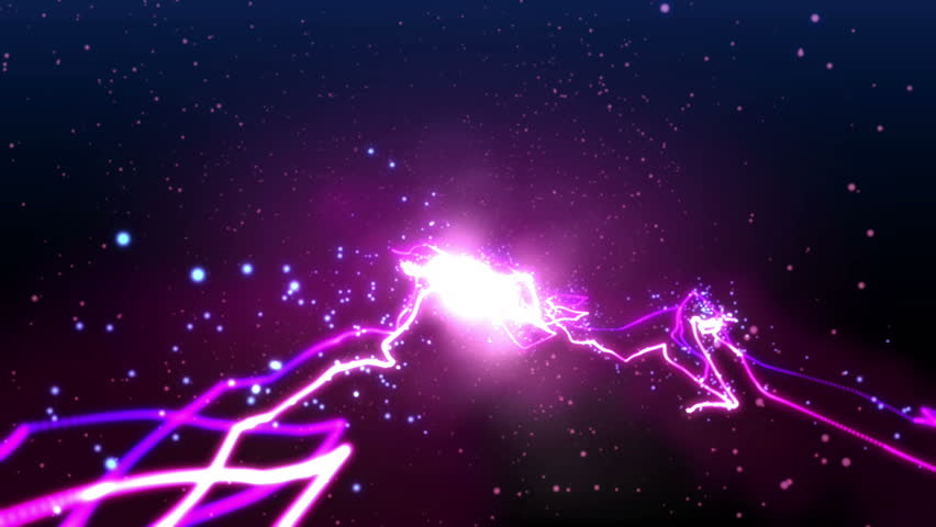 High Definition CGI motion backgrounds ideal for editing, led backdrops or broadcasting featuring purple and pink energy particles