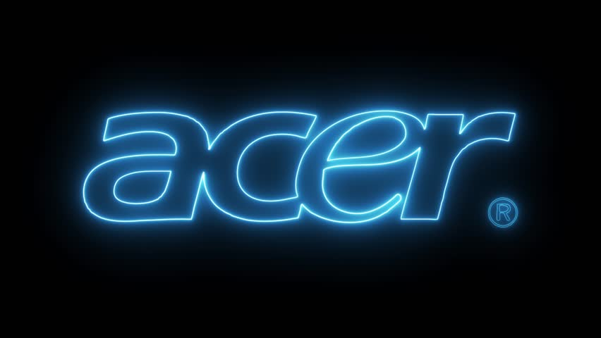 Acer logo with neon lights. Editorial animation. | Shutterstock HD Video #32507590