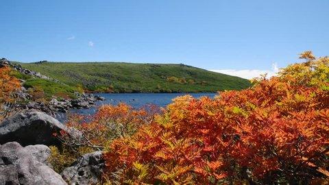 Hakuba Oike pond in Autumn season
