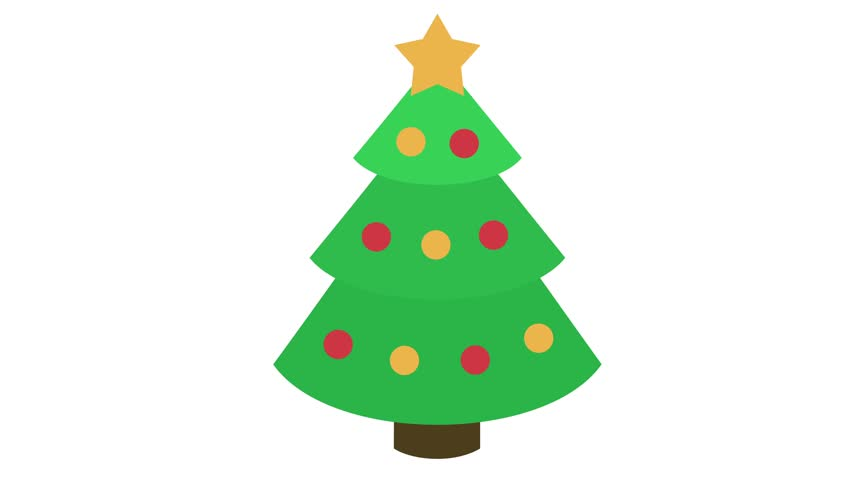Christmas Tree Icon.Christmas Tree Icon With Star Stock Footage Video 100 Royalty Free 32624074 Shutterstock