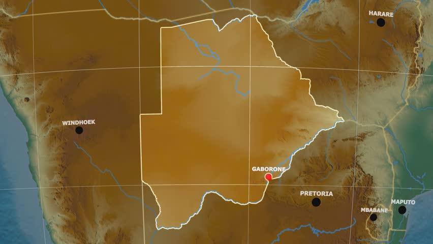Botswana Map Stock Footage Video Shutterstock