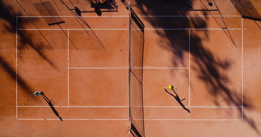 tennis players on clay