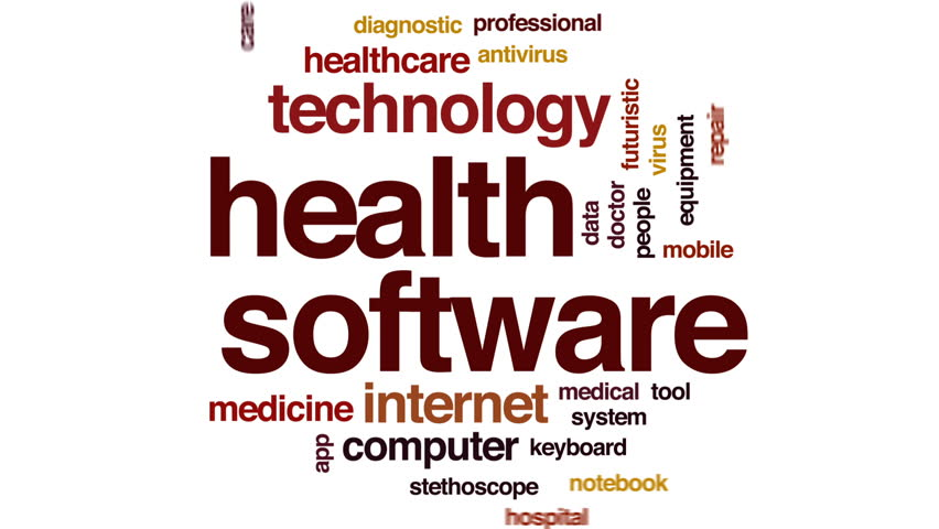 Health software animated word cloud, text design animation. | Shutterstock HD Video #32726809