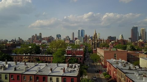 Brooklyn at 60 Ft. over Red Hook.