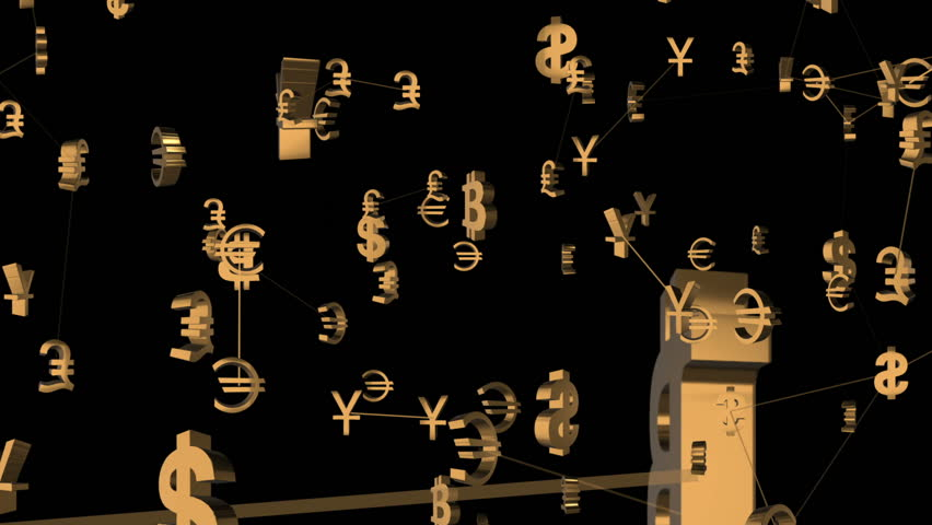 Rotating icons of currencies in the business world. business cinematic background. seamless loop. | Shutterstock HD Video #32826568