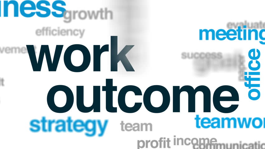 Work outcome animated word cloud, text design animation. | Shutterstock HD Video #32833993
