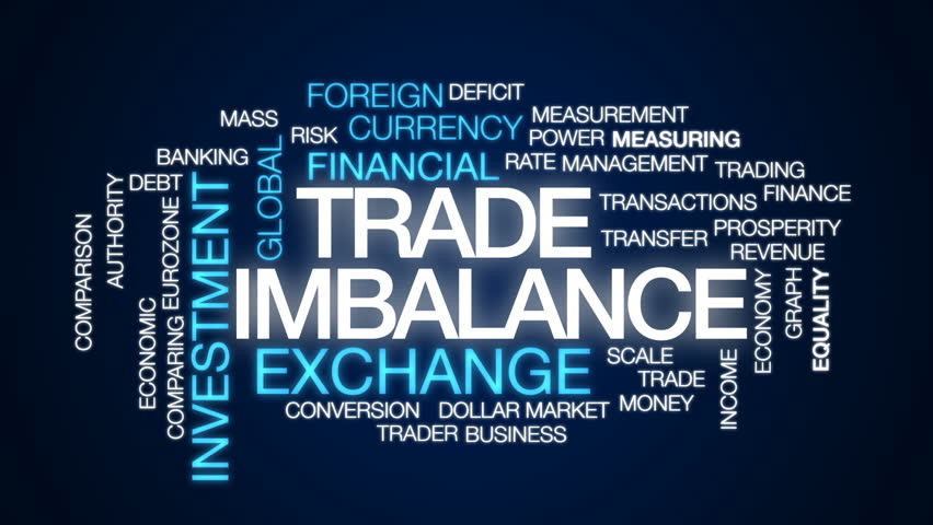 Trade imbalance animated word cloud, text design animation. | Shutterstock HD Video #32834026
