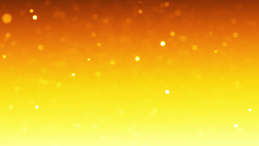 floating particles in yellow