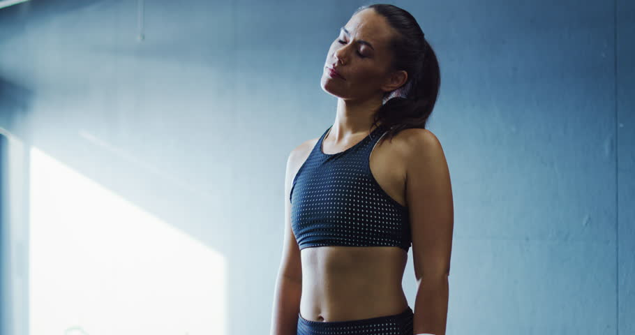 Attractive female boxer training in the gym | Shutterstock HD Video #32911594