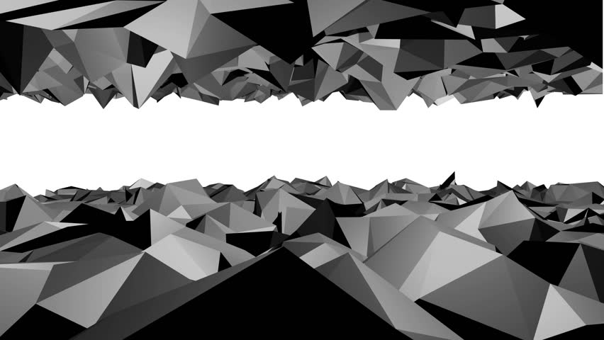 Abstract low poly black background. top and bottom moving peaks | Shutterstock HD Video #32926294
