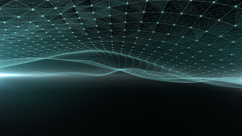 Green network wave abstract background. | Shutterstock HD Video #32967082