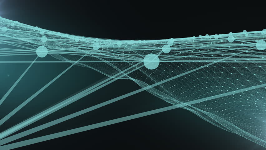 Green network wave abstract background. | Shutterstock HD Video #32967280