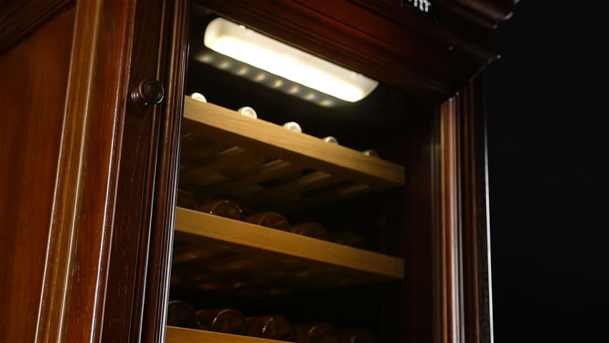 macro illuminated cabinet protects wine from oxidation which occurs when air penetrating in bottle
