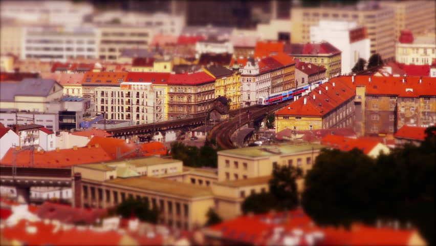 Toy Train in Prague – Tilt-Shift