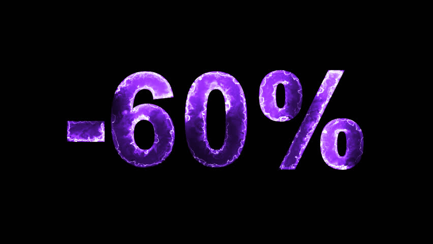 Luminous and shimmering haze inside the letters of the sale, discount, price, promotion, offer, promo, marketing, percent, tag, sale tag, -60%. Transparent, Alpha channel | Shutterstock HD Video #33019783