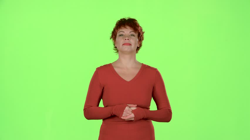 Woman advertises clothes. Green screen   Shutterstock HD Video #33029023