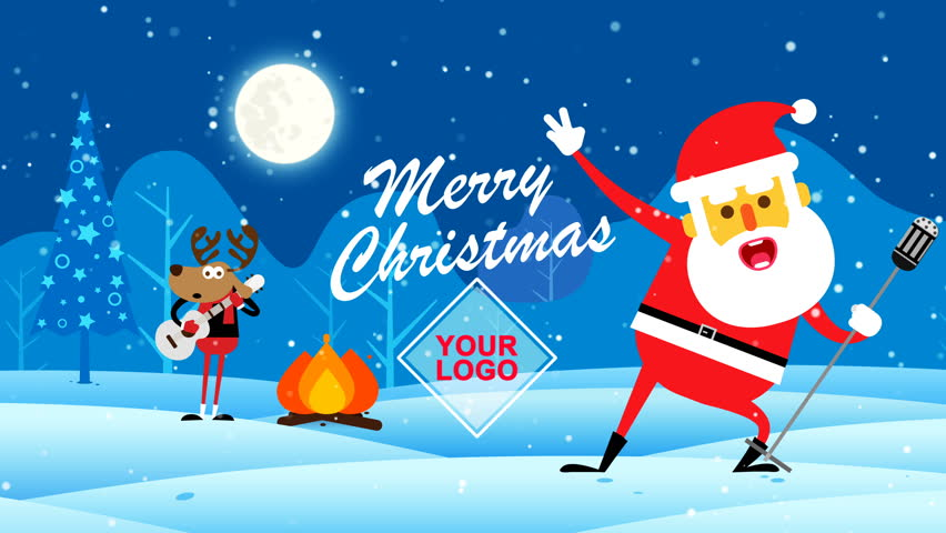 Merry christmas christmas digital greetings stock footage video christmas digital greetings card intro opener promo special events m4hsunfo