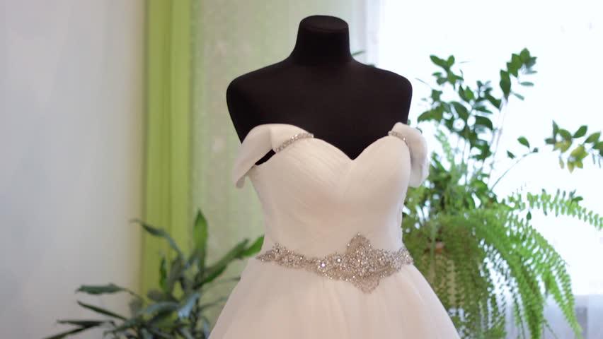 Wedding dress. wedding dress with small stones. wedding dress with glitters  | Shutterstock HD Video #33060043