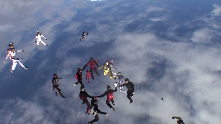 Skydiving video. | Shutterstock HD Video #3306944