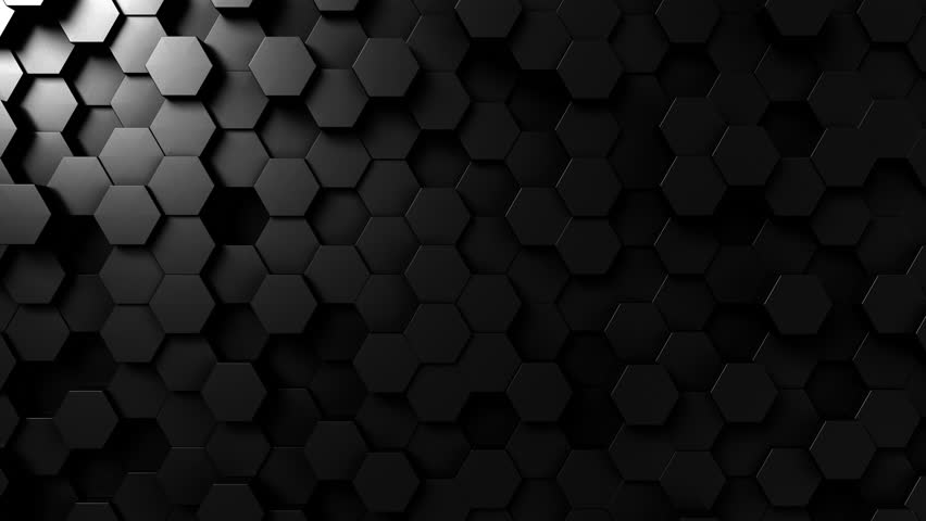 Abstract black hexagonal loopable motion background | Shutterstock HD Video #33098059